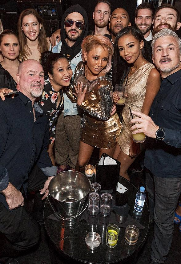 Mel B Joins Revelers at Drai's Nightclub in The Cromwell Las Vegas