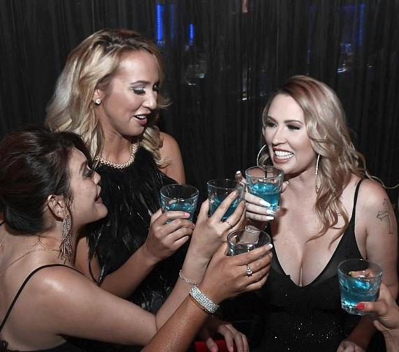 Melissa and Friends Taking Shots at Crazy Horse 3 in Las Vegas