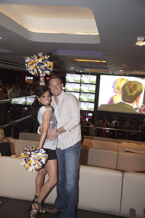 Melissa Rycroft came to the opening with her fiancé Tye Strickland