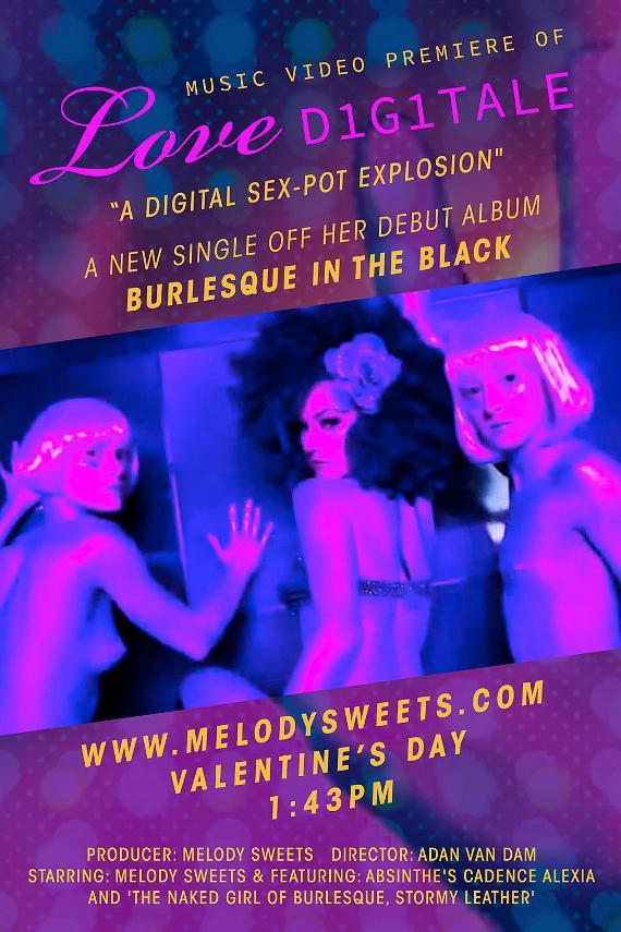 """Absinthe's Sparkling Green Fairy, Melody Sweets, Presents World Premiere Of """"Love Digitale"""" on Valentine's Day"""