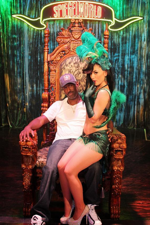 Melody Sweets and Shawn Stockman at ABSINTHE