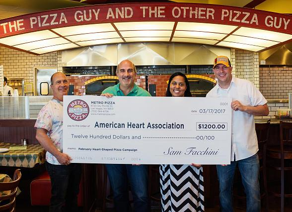 Metro Pizza Donates $1,200 to the American Heart Association