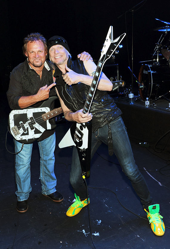 Michael Anthony and Michael Schenker