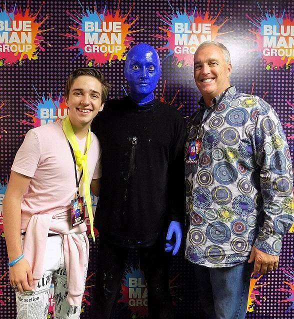 Actor Michael Campion at Blue Man Group in Las Vegas at Luxor Hotel