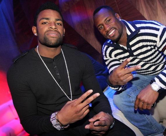Michael Crabtree and Vernon Davis of the San Francisco 49ers