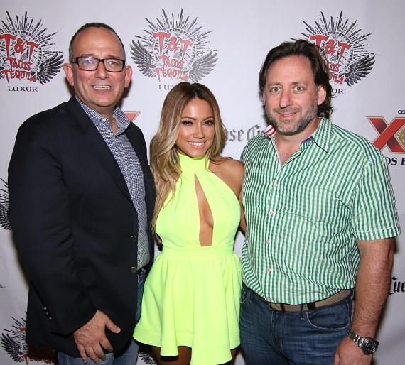 Jessica Burciaga with owners of Tacos & Tequila, Michael Frey and Craig Gilbert