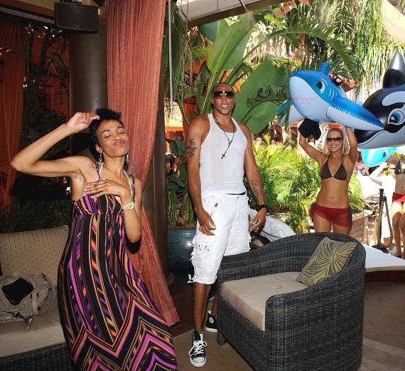Michelle Williams and Shawn Marion at TAO Beach