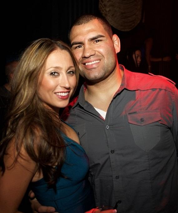 Michelle and Cain Velasquez celebrate his birthday at Chateau Nightclub & Gardens at Paris Las Vegas
