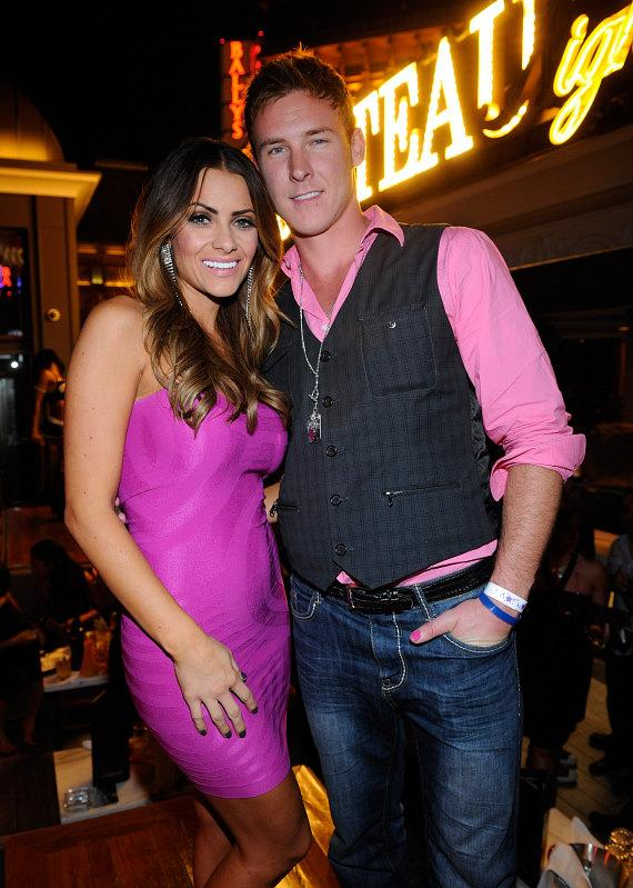 "Michelle Money and Kasey Kahl from ""The Bachelor Pad 2"" on the Chateau Nightclub & Gardens Terrace"