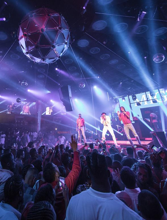 Hip Hop Trio Migos Perform Full Concert at Drai's Nightclub atop The Cromwell in Las Vegas