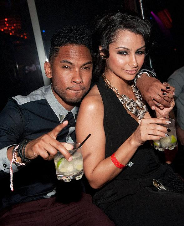 Miguel and Nazanin Mandi at LAVO