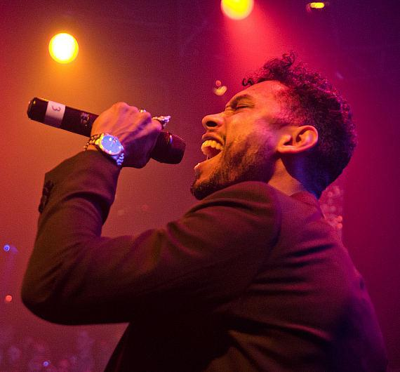 Grammy Award-winning singer Miguel performs at TAO Nightclub in Las Vegas