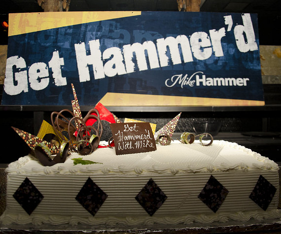 Mike Hammer birthday cake