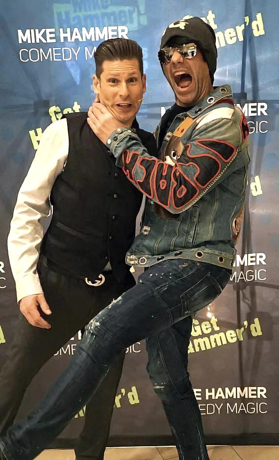 """Magician Criss Angel Attends """"The Mike Hammer Comedy & Magic Show"""" at The Four Queens Hotel & Casino"""