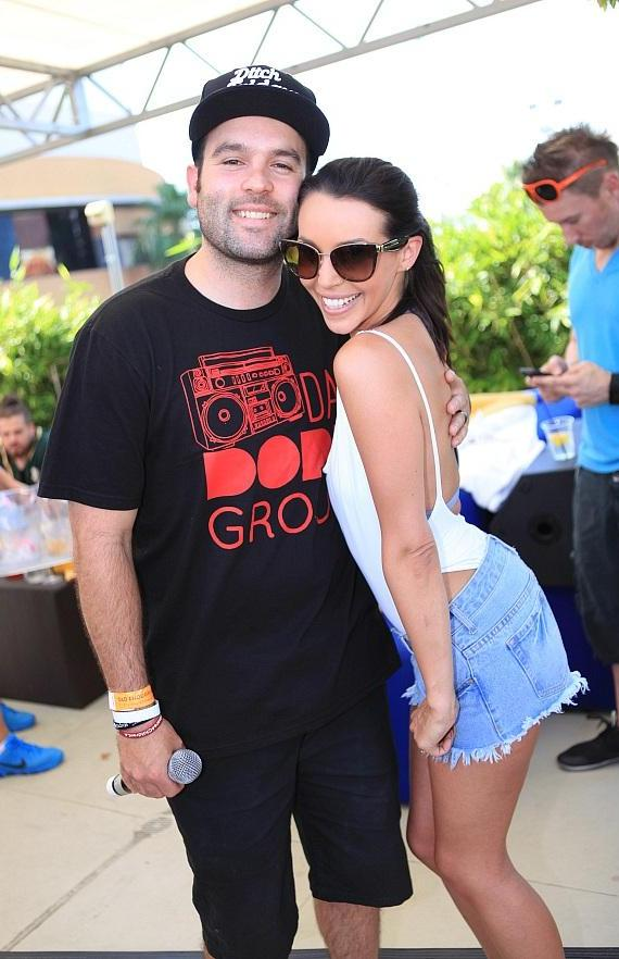"""Corbin Bleu and """"Vanderpump Rules"""" stars Scheana Shay and Mike Shay Party at Ditch Fridays at Palms Pool & Dayclub"""