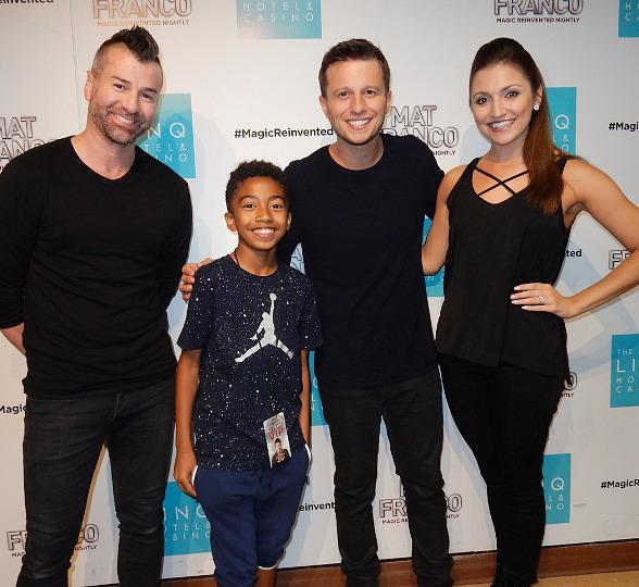 "Miles ""Baby Boogaloo"" Brown Attends 'Mat Franco - Magic Reinvented Nightly' at the Linq Hotel & Casino Las Vegas"