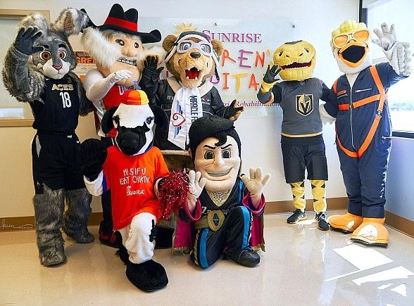Las Vegas Mascots Team Up for Debut of National Charity Mascot: Miles the Miracle Flights Bear