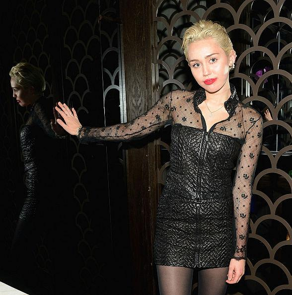 Miley Cyrus Dines at Hakkasan Restaurant at MGM Grand in Las Vegas