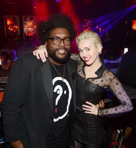 Miley Cyrus and Questlove at Heart of OMNIA in Las Vegas