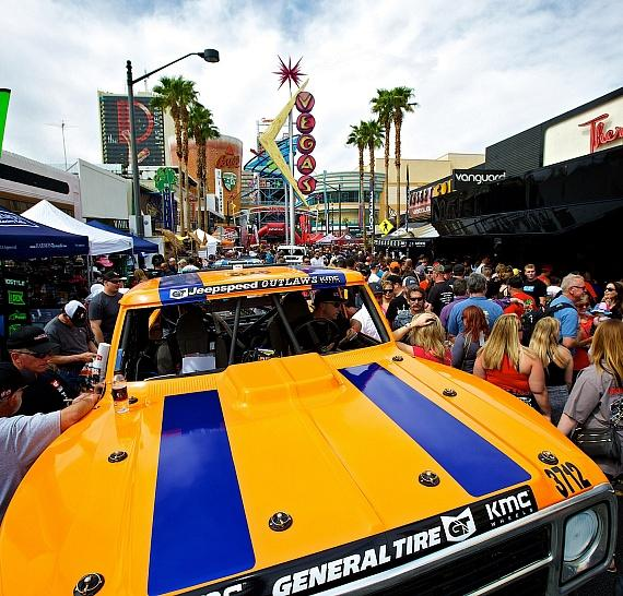 Mint 400 Vehicles in Downtown Las Vegas