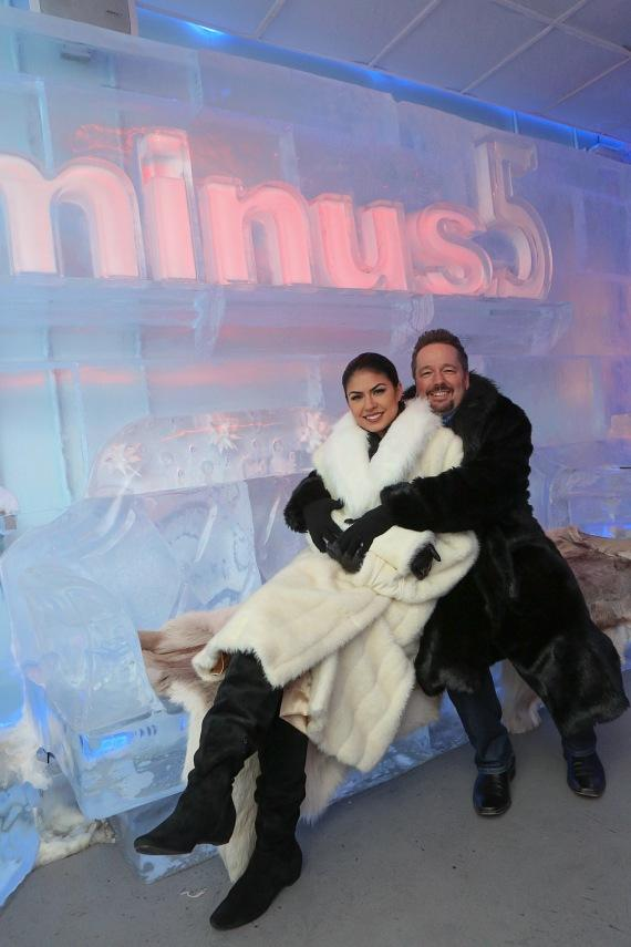 Terry Fator and wife Taylor Makakoa at Minus5 Ice Bar