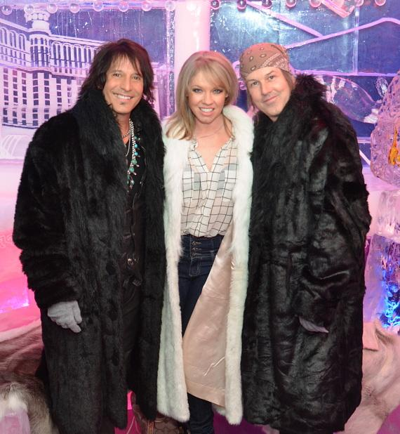 Raiding the Rock Vault cast members at Minus5 Ice Bar