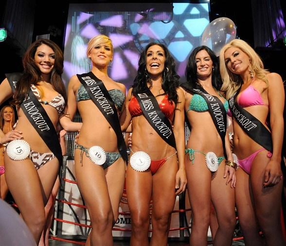 Miss Knockout Preliminary Winners at Studio 54 Las Vegas