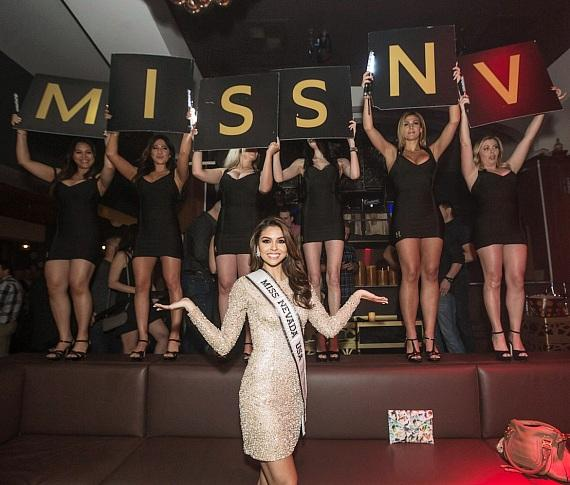 Miss Nevada USA Carolina Urrea Hosts Official Send Off Party at Hyde Bellagio