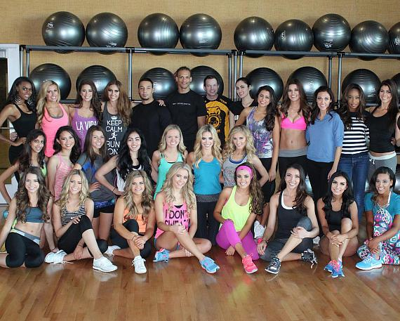 Miss Nevada USA and Miss Nevada Teen USA contestants with Life Time Athletic instructors