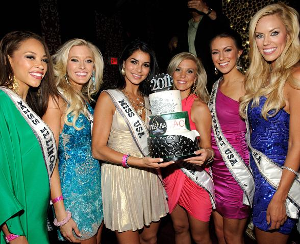 Miss USA 2010 Rima Fakih with Miss USA 2011 contestants