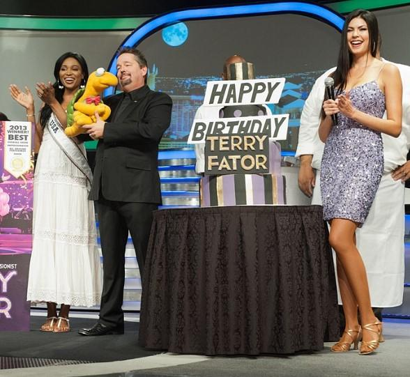 Miss USA Nana Meriwether, Terry Fator and Taylor Makakoa