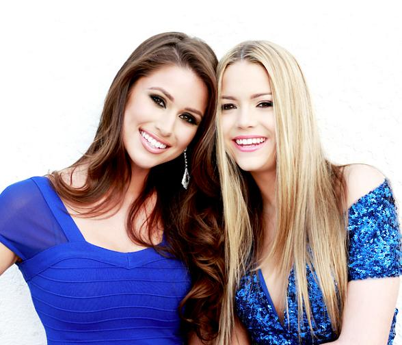 Miss USA Nia Sanchez and Miss Nevada Teen Alexa Taylor