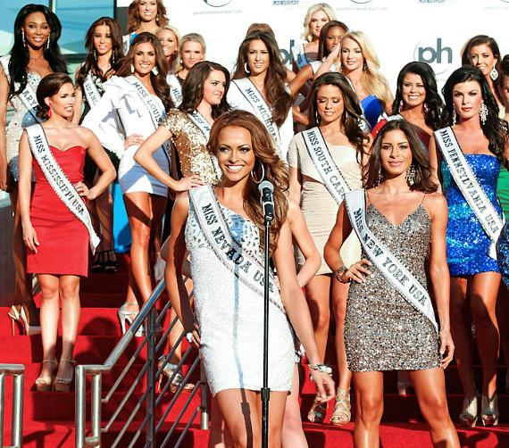 Miss USA 2012 Contestants pose in at Planet Hollywood in Las Vegas