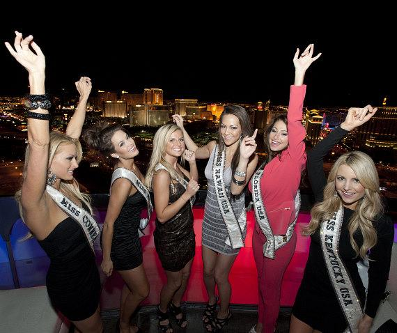 Miss USA contestants dancing at VooDoo Rooftop Nightclub