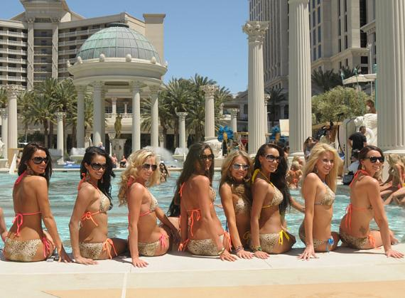 Miss USA contestants at the Neptune Pool at Garden of the Gods
