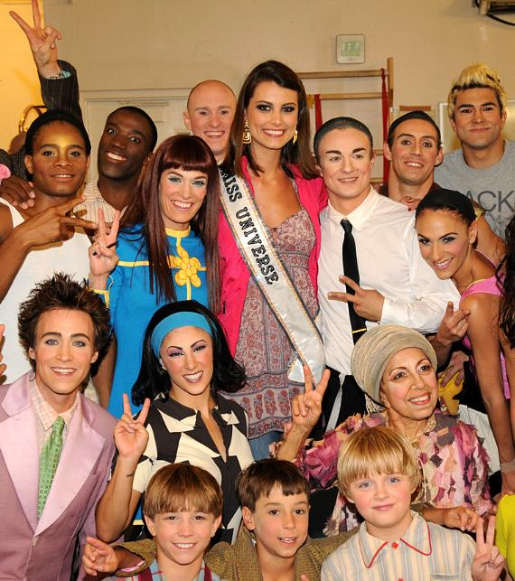 Miss Universe, Stefania Fernandez, Attends The Beatles LOVE by Cirque du Soleil
