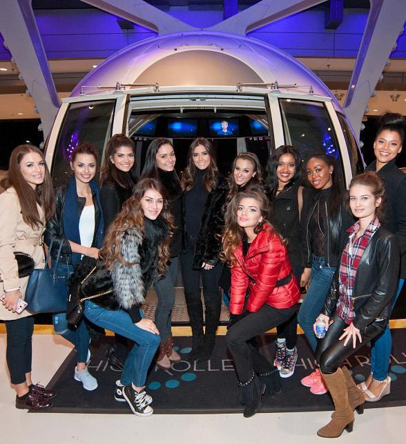 Miss Universe Contestants Ride the High Roller and Take in the Sights Atop the Eiffel Tower Experience While in Vegas to Compete for the Coveted Crown
