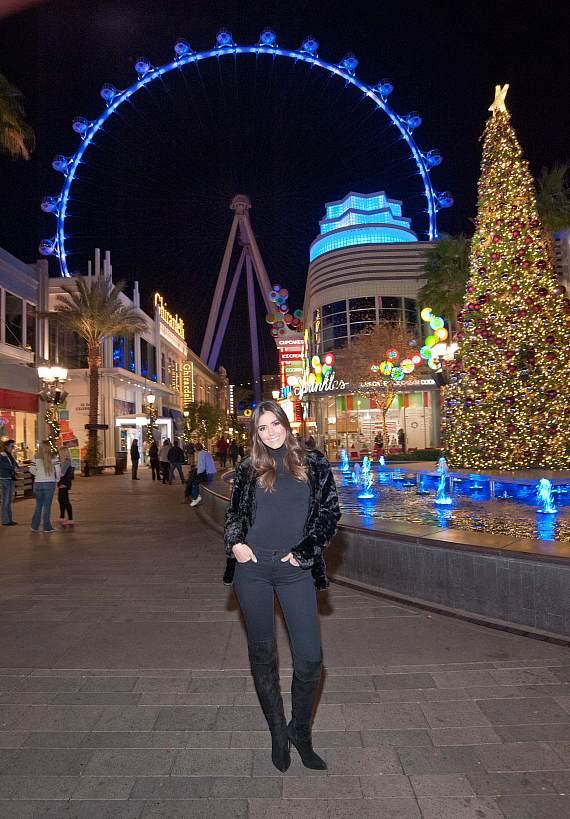 Reigning Miss Universe, Paulina Vega visits The LINQ Promenade and rides the High Roller