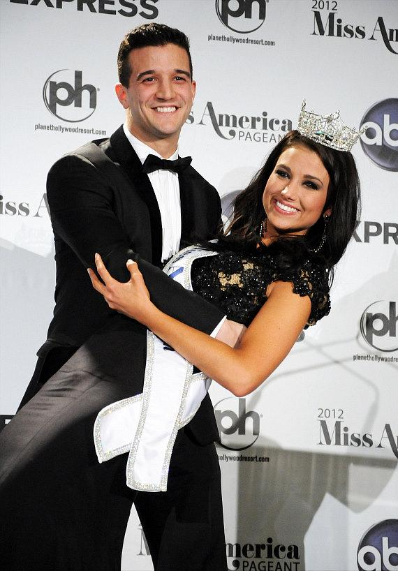 Mark Ballas with Miss America 2012 Laura Kaeppeler