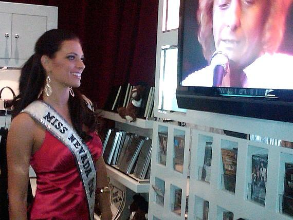 Miss Nevada Christina Keegan in gift shop