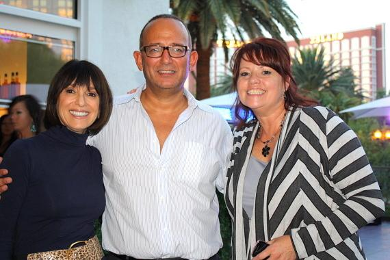 RHUMBAR owner Michael Frey, with Barbara Molasky and Stacey Howard from Opportunity Village