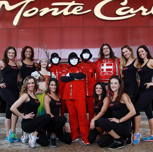 Jabbawockeez, Ladies of FANTASY, Tournament of Kings and DWTS' Sasha Farber Celebrate National Dance Day at Monte Carlo Plaza in Las Vegas