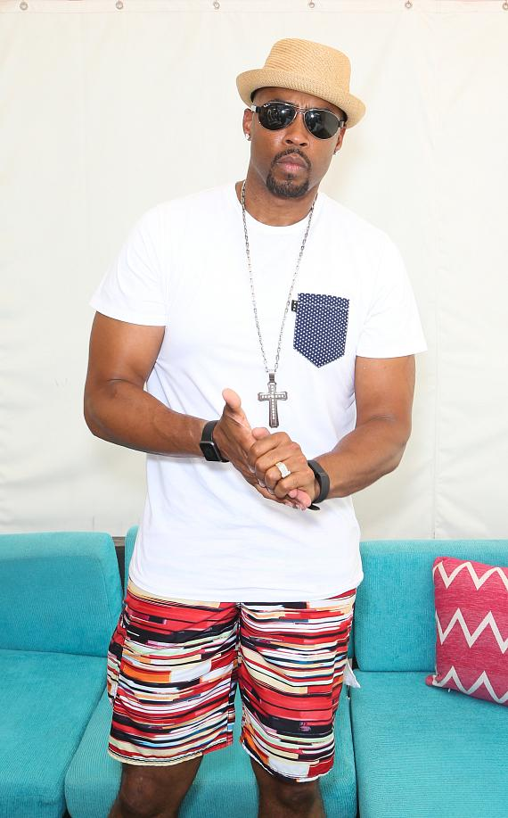 Montell Jordan at the Flamingo Go Pool in Las Vegas