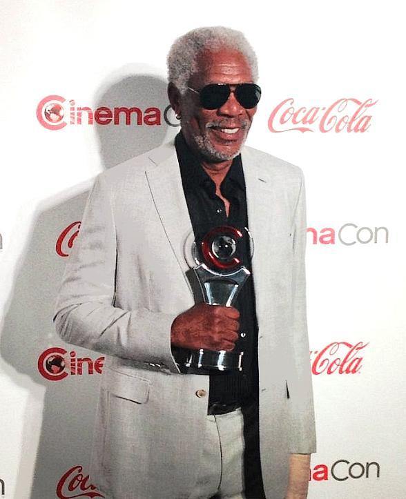 Guest of Honor at CinemaCon Big Screen Achievement Awards Morgan Freeman Dines at Bacchanal Buffet at Caesars Palace