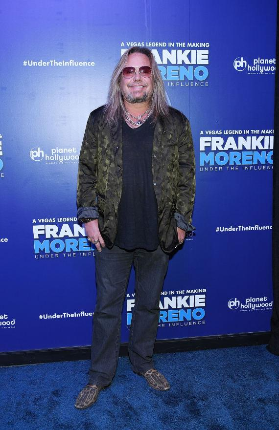 Motley Crue Frontman Vince Neil at Opening Night of FRANKIE MORENO - UNDER THE INFLUENCE at Planet Hollywood Resort & Casino
