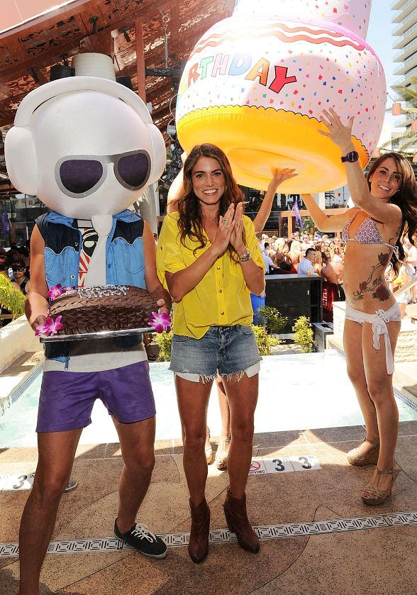 Nikki Reed Celebrates 24th Birthday at Marquee Dayclub in Las Vegas