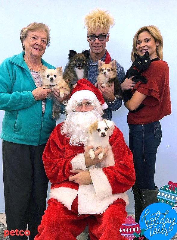 Murray The Magician and Pups Get Christmas Photo