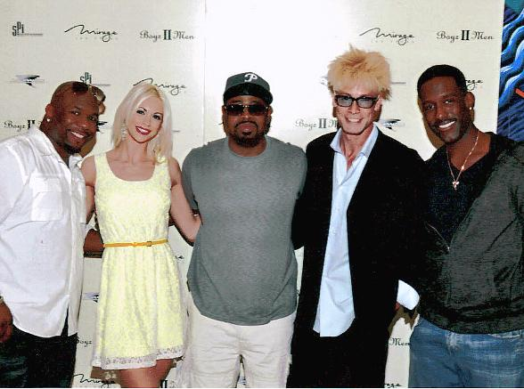 Murray and Chloe with Boyz II Men