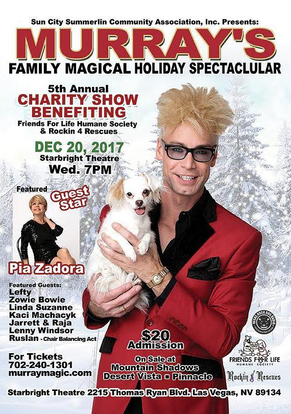 Comedy Magician Murray SawChuck to Host Charity Christmas Show Dec. 20, 2017