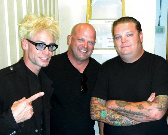 Murray SawChuck with Rick Harrison and Corey Harrison of Pawn Stars